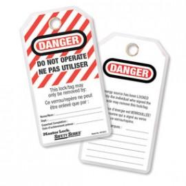 """Etiquettes de sécurité """"Ne pas utiliser"""" fr/en"""