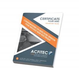 Certificat pour tiers
