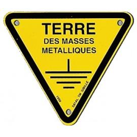 "Triangle d'avertissement ""Terre des masses métalliques"