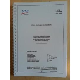 Livret C18-540 (édition 2012)
