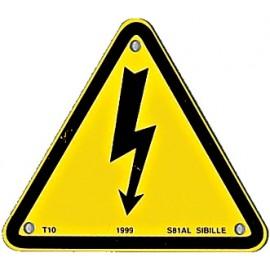 """Triangle d'avertissement """"eclair"""""""