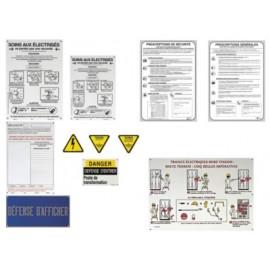 Kit de signalisation de poste