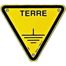 "Triangle d'avertissement ""Terre"""